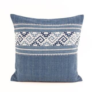 Indigo Cotton Pillow Cover V