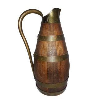 French Oak & Brass Carafe