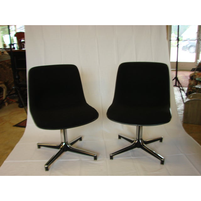 Vintage GF Chairs with Chrome Bases - A Pair - Image 2 of 5