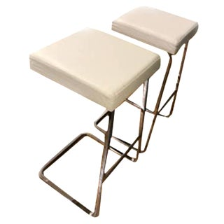 Mies Van Der Rohe: Four Seasons Stool - A Pair