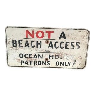 Vintage Rhode Island Ocean House Sign