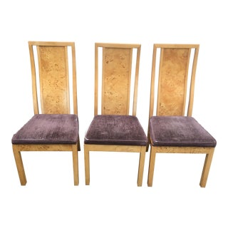 Thomasville Burl Wood Chairs - Set of 3