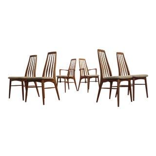 Teak Eva Dining Chairs, Niels Koefoed for Koefoeds Hornslet - Set of 6