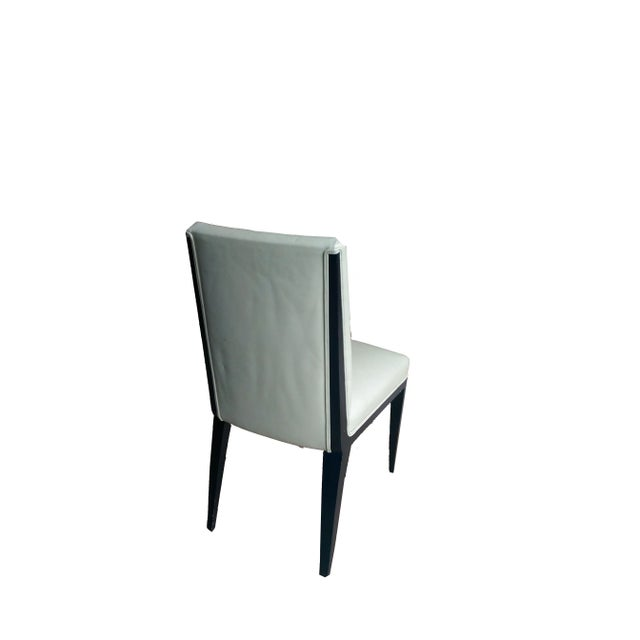 Image of Mattaliano White Leather Dining Chairs - Set of 4