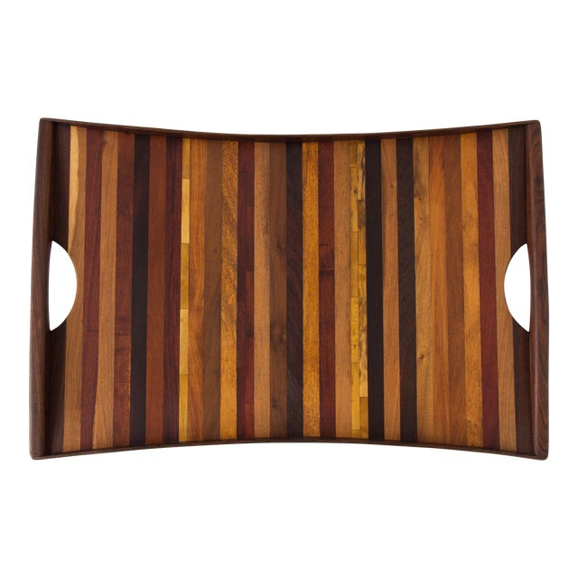 Don Shoemaker for Señal Rosewood Handled Tray - Image 1 of 10