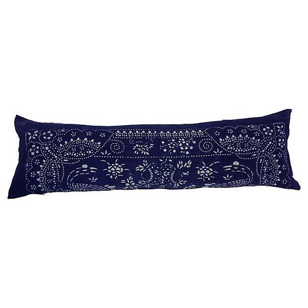 Indigo Batik Baby Carrier Body Pillow - Image 1 of 4