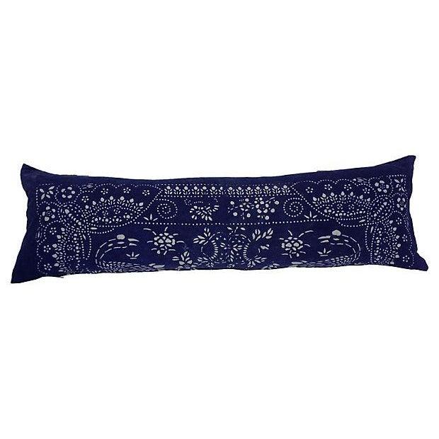 Image of Indigo Batik Baby Carrier Body Pillow