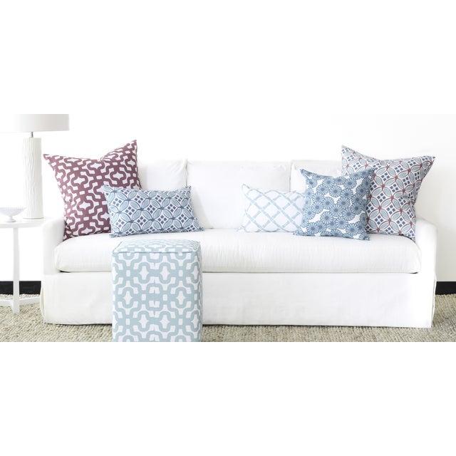 Image of Turquoise Pinwheel Flower Throw Pillow