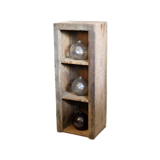 Wooden Shelves With Glass Floats