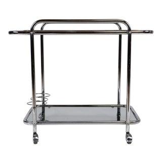 Mid-Century Modern Chrome Bar Cart