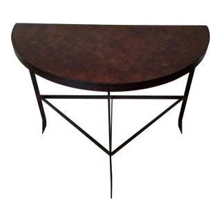 Iron & Acid Washed Copper Console Table