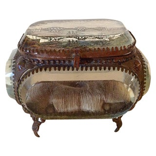 Antique 19th C. Edinburgh Bridge Scene Jewelry Box