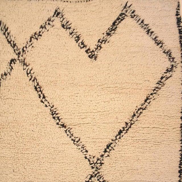 Image of Vintage Small Beni Ouarain Berber Carpet