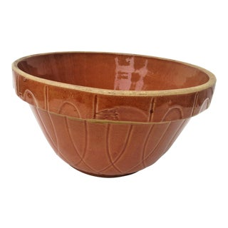 Vintage Large Stoneware Pottery Crock Bowl