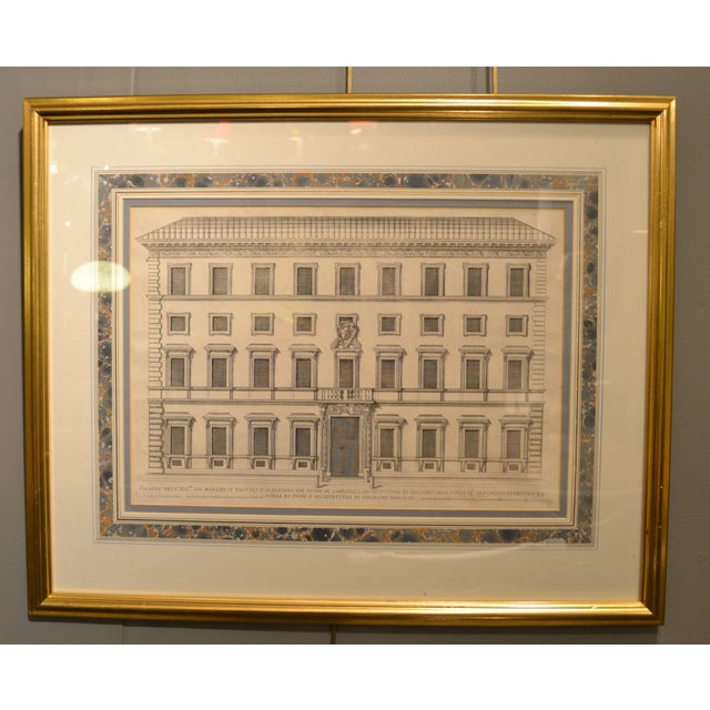 17th Century Engravings - Palazzi Di Roma - A Pair - Image 4 of 8