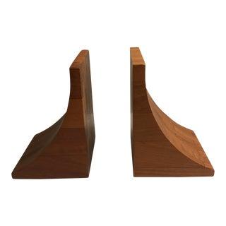 Danish Modern Wood Bookends - a Pair