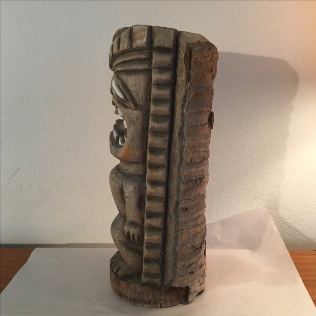Image of Vintage Hand Carved Outdoor Tiki Sculpture