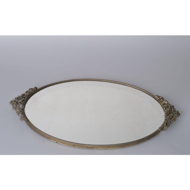 Art Deco Pewter Mirrored Tray - Image 9 of 9