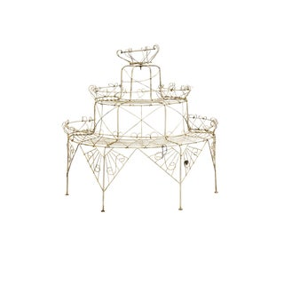 White Wire Plant Stand