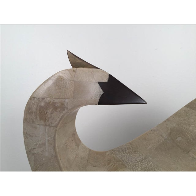 Image of Tessellated Stone And Brass Abstract Bird
