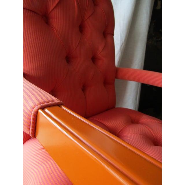 Orange Hot Pink Accent Chair Chairish