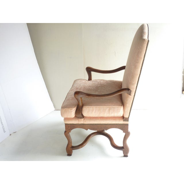 Image of Soft Peach Louis XV-Style Fauteuil
