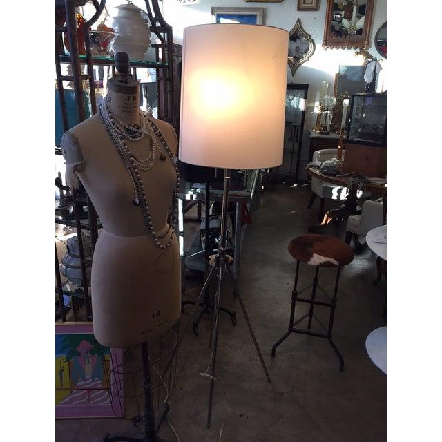 Image of Vintage 1980s Adjustable Metal Floor Lamp