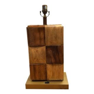 Palecek Wood Block Table Lamp