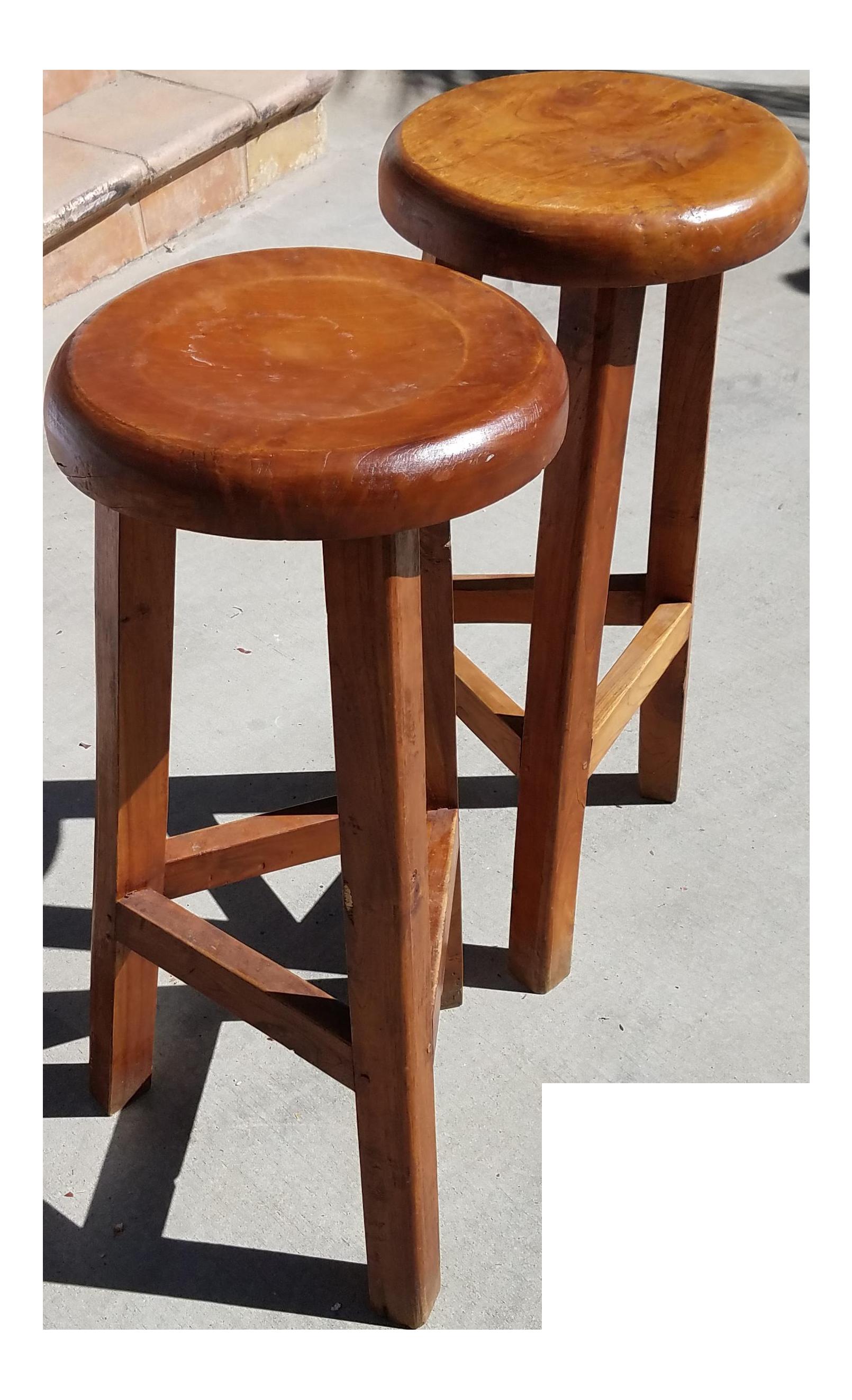 Rustic Solid Wood Barstools - A Pair  sc 1 st  Chairish & Vintage u0026 Used Bar Stools | Chairish islam-shia.org