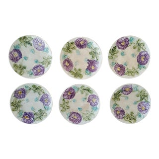 Antique French Majolica Plates - Set of 6