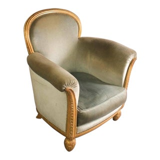 Paul Follot Single Club Chair, 1925, Paris Exhibition