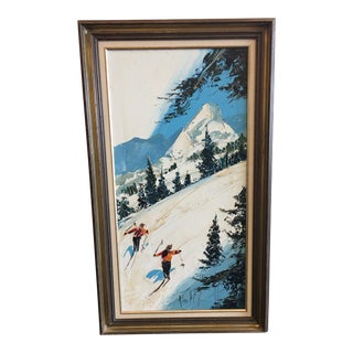 "Paul Blaine Henrie ""The Downhill Race"" Acrylic Painting"