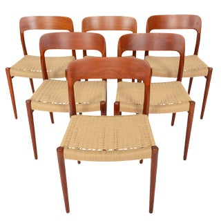 Møller Model 75 Teak Dining Chairs - Set of 6