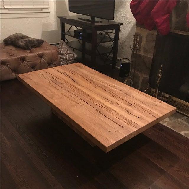 Rh French Beam Coffee Table: Restoration Hardware Reclaimed Russian Oak Plinth Coffee