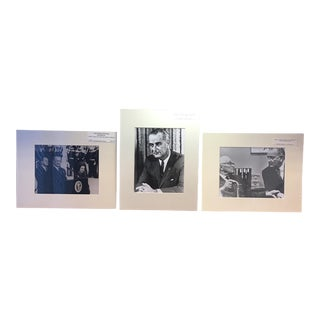 President Lyndon Johnson Handprinted Photographs - Set of 3