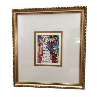"""The Wedding"" Serigraph by Zamy Steynovitz With Coa"