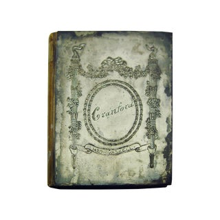 Antique Cranford Book with Silverplate Cover