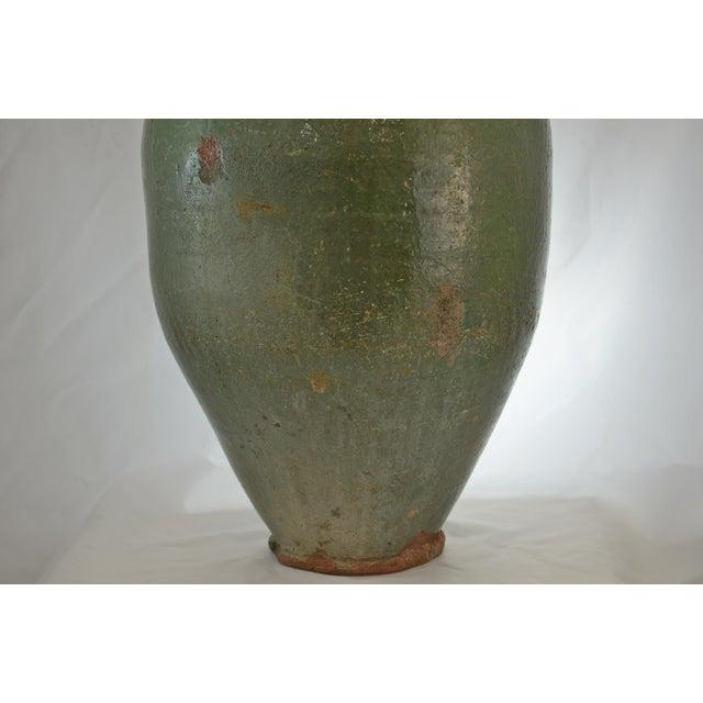 Turkish Oversize Dark Green Glazed Urn - Image 3 of 9