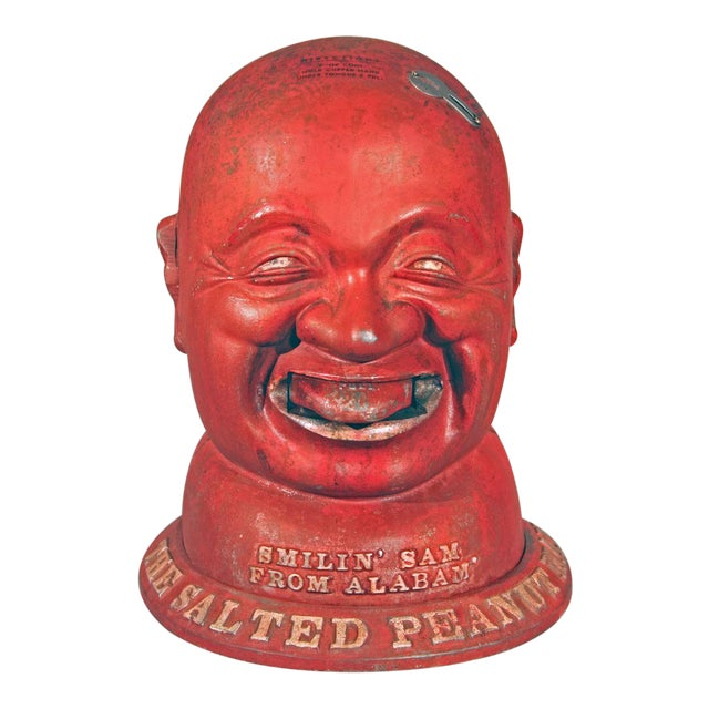 """Image of """"Smilin' Sam from Alabam,' the Salted Peanut Man"""" Vending Machine"""