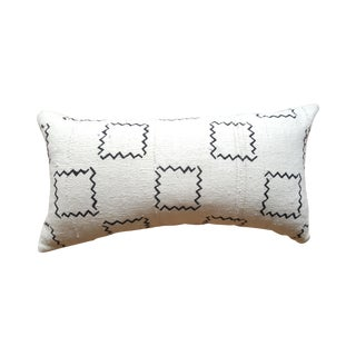 African Mud Cloth Geometric Lumbar Pillow
