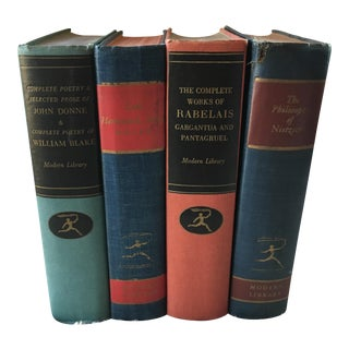 Giant Modern Library Book Decor - Set of 4