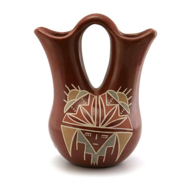 Flora Naranjo Santa Clara Redware Wedding Vase - Image 2 of 7