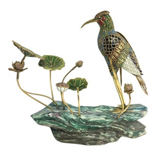 Vintage Chinese Cloisonné Bird