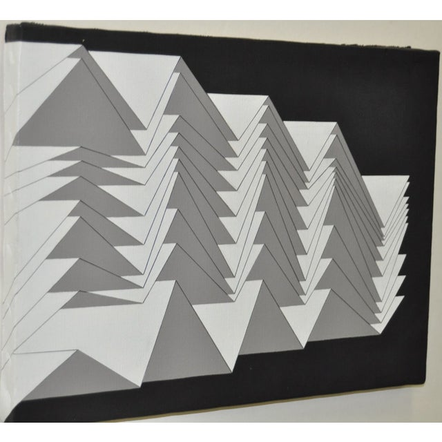 1988 Charles Hersey Vintage Geometric Painting - Image 4 of 5