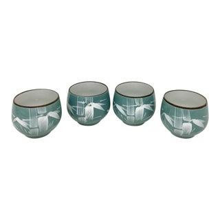 Japanese Artisan Sake Cups - Set of 4