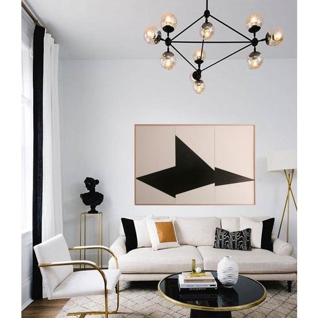 "Jason Trotter Original Acrylic Painting ""Black on Point Triptych Jet0462"" - Image 2 of 4"