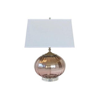 Ombre Pink Mercury Glass Globe Lamp