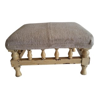 Antique Rustic Farmhouse Footstool