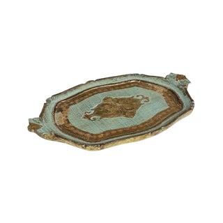 Vintage Florentine Style Wood Tray