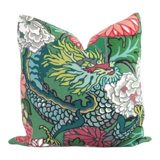 "Jade Schumacher Chiang Mai Dragon Decorative Pillow Cover - 20"" x 20"""